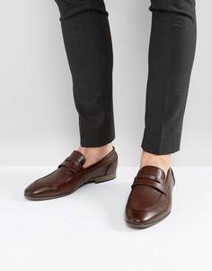 Темно-коричневые лоферы New Look - Коричневый