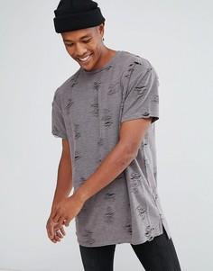 Серая футболка с принтом New Look - Серый