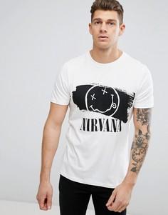 Белая футболка с принтом Nirvana New Look - Белый