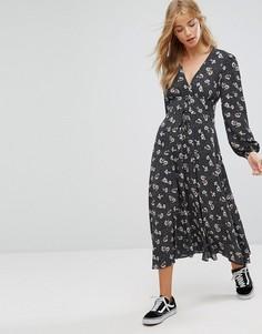 Платье макси с принтом New Look - Черный