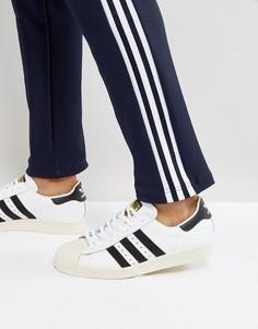 Белые кроссовки в стиле 80-х adidas Originals Superstar G61070 - Белый