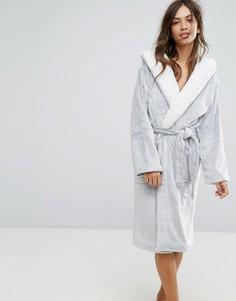 Пушистый халат New Look - Серый