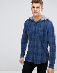 Темно-синяя рубашка классического кроя в клетку New Look - Синий