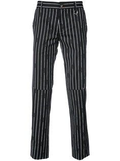 pinstripe tailored trousers Icosae