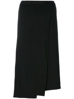 асимметричная плиссированная юбка  Helmut Lang
