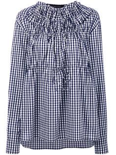 gingham blouse  Cédric Charlier
