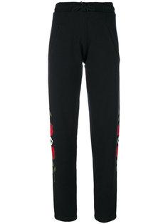спортивные брюки с принтом роз  Marcelo Burlon County Of Milan