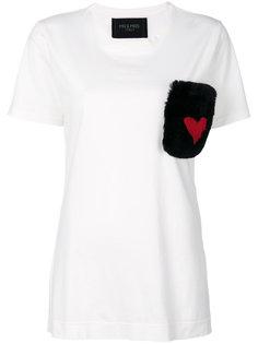футболка с меховым карманом Mr & Mrs Italy