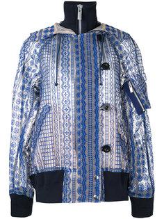 прозрачная куртка с капюшоном и вышивкой Sacai