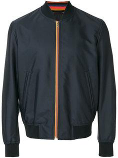 куртка-бомбер с полосатой отделкой Paul Smith