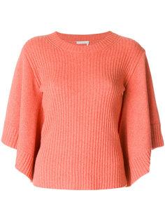 свитер в рубчик с рукавами кейп  Chloé