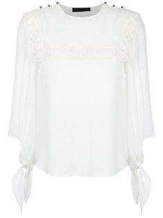 lace inserts blouse Nk