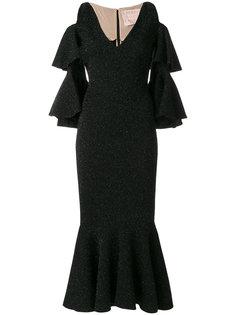 облегающее платье с расклешенным подолом Maria Lucia Hohan