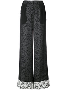 Double Layer Pant With Foldover Cuff Derek Lam