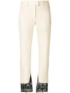 укороченные брюки с кружевом  Ann Demeulemeester