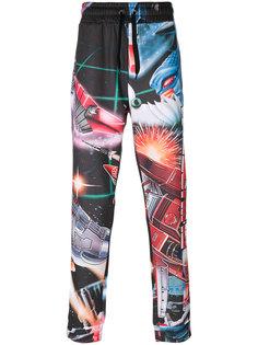 спортивные брюки с принтом Transformer Moschino