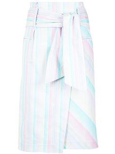 printed asymmetric skirt Isolda