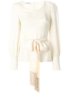 укороченная блузка с узором с завязкой на талии Philosophy Di Lorenzo Serafini