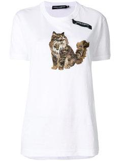 футболка с котом  Dolce & Gabbana