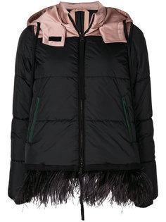 куртка-пуховик со страусиными перьями Nº21