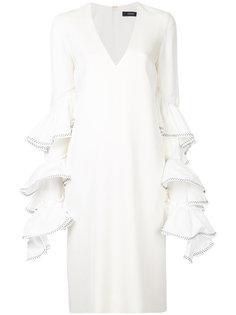 платье с V-образным вырезом и оборкой Molotov Ellery