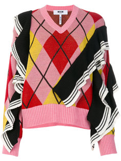 свитер с V-образным вырезом MSGM
