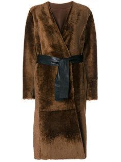 двухстороннее пальто с поясом  Drome