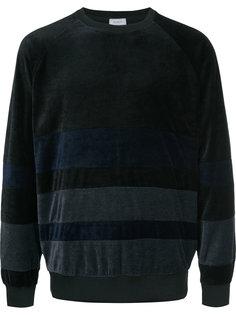 striped velour sweatshirt En Route