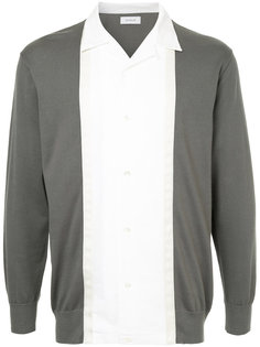 striped open collar sweatshirt En Route