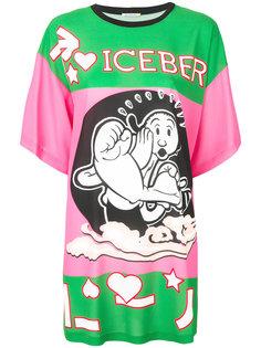 платье-футболка с логотипом  Iceberg
