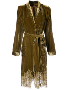 draped metallic coat Gold Hawk
