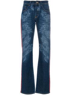 джинсы с цветочной вышивкой Iceberg