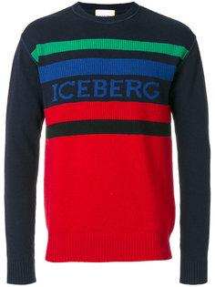 свитер дизайна колор-блок Iceberg