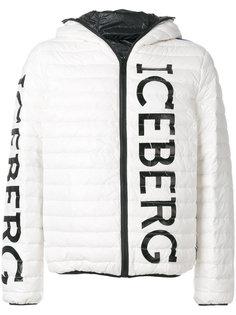 пуховик с принтом логотипа Iceberg