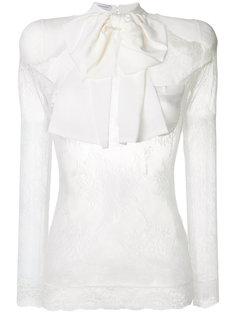полупрозрачная кружевная блузка с бантом  Faith Connexion
