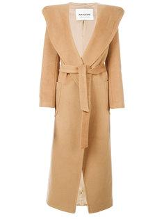длинное пальто с поясом  Ava Adore