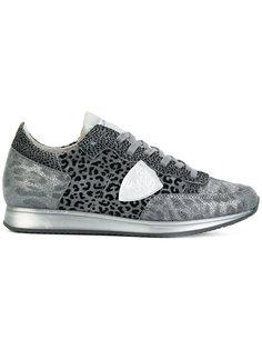 кроссовки с леопардовым принтом Philippe Model