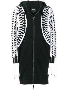 oversized lace-up hoodie KTZ