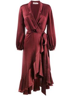 платье с запахом и оборкой  Zimmermann