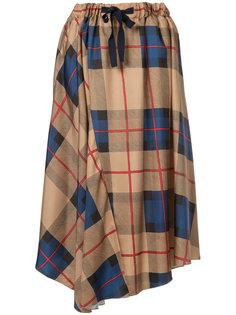checked pleated skirt  Astraet