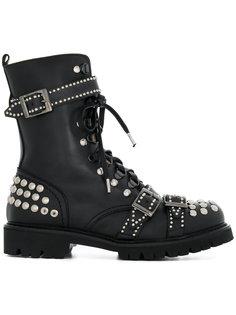 ботинки на шнуровке с заклепками Christian Pellizzari