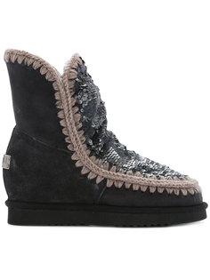 sequin Inner Wedge boots Mou