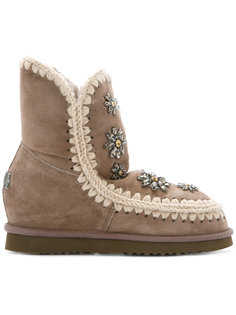 embellished Inner Wedge boots Mou
