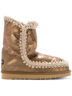 patterned eskimo boots Mou