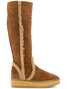 knee high textured boots Castañer