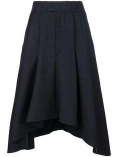 юбка с высокой талией в клетку Isabel Marant
