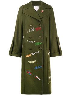 пальто милитари с вышивкой  Mira Mikati