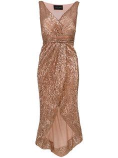 асимметричное платье с пайетками Christian Pellizzari