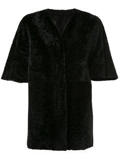 двухстороннее пальто с короткими рукавами  Drome