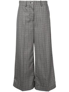 укороченные широкие брюки в клетку  Erika Cavallini
